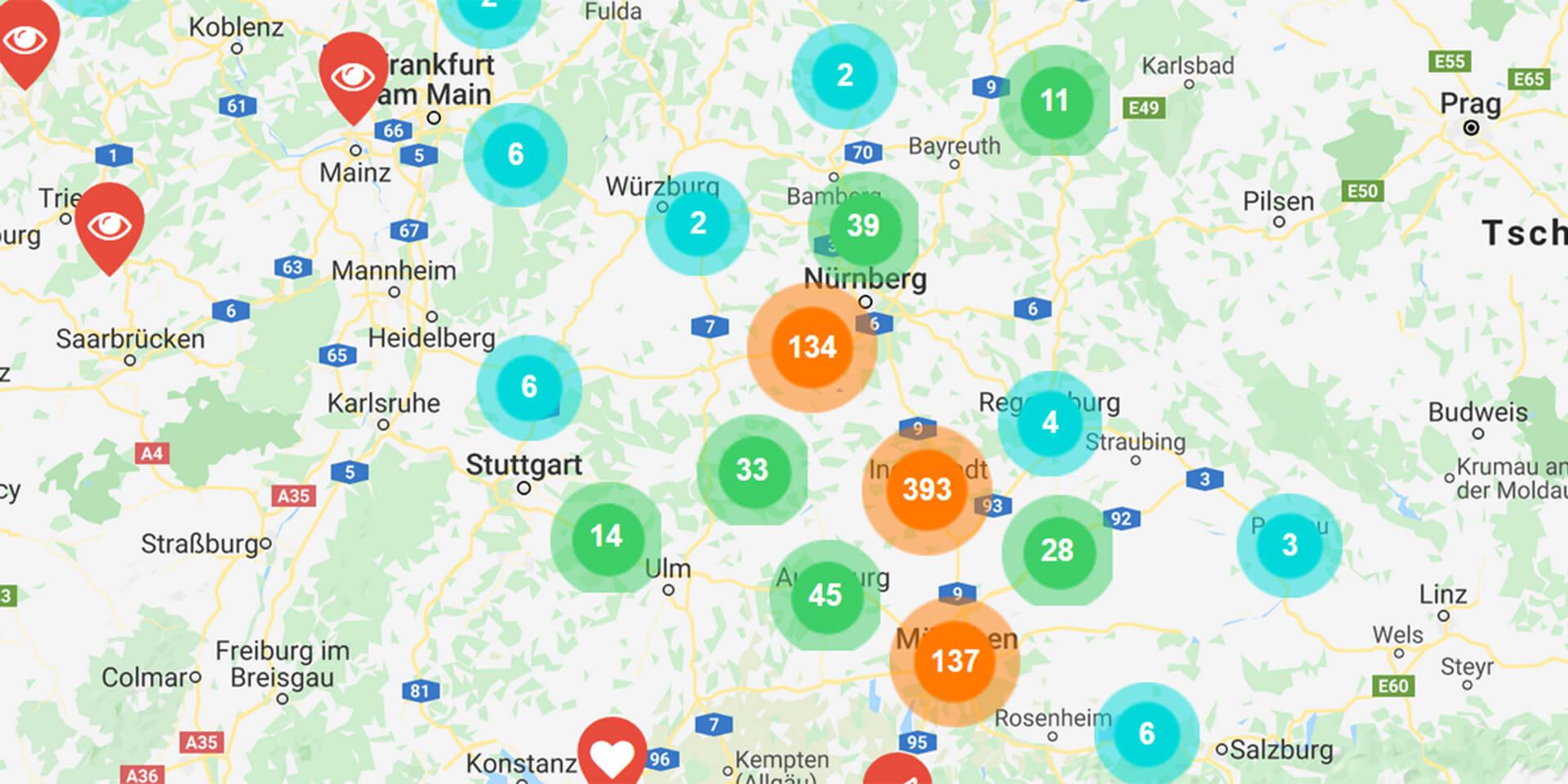 www.evangelisch-digital.de - Karte mit Angeboten,© evangelisch-digital.de