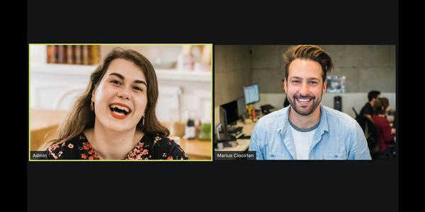 Frau und Mann in einer Videokonferenz , © unsplash/visuals